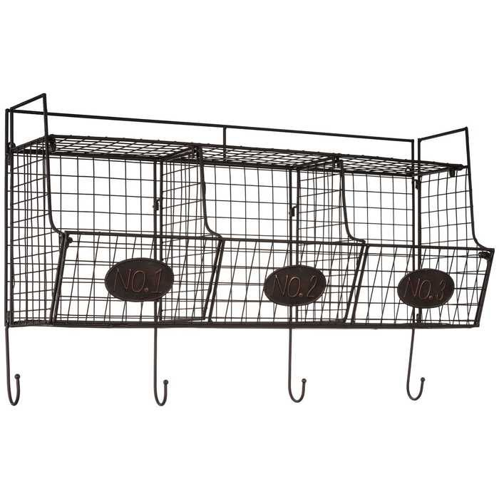 Black Wire Wall Shelf With Baskets Wall Shelf With Baskets Basket Shelves Wire Wall Shelf