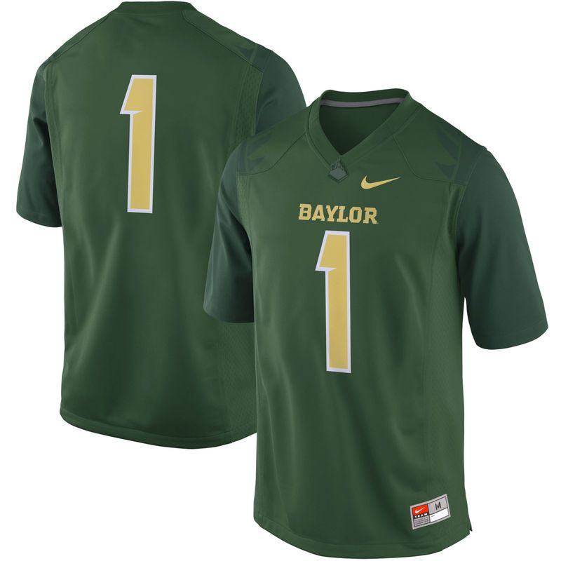 1 Baylor Bears Nike Game Football Jersey Green In 2020 Baylor Bear Football Jerseys Bears Game