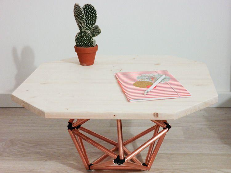 Tutoriel DIY: Fabriquer une table d'appoint en forme d'icosaèdre via DaWanda.com