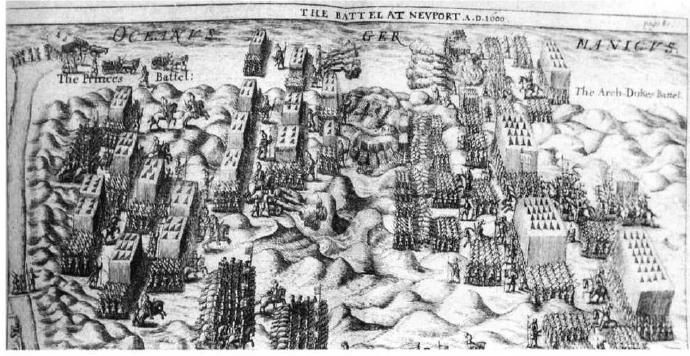 The Battle of Nieuport (1600) is often touted as a victory of the new Dutch system over the antiquated Spanish tercio. In fact, the Spanish infantry had defeated the frontline Dutch infantry and were only defeated by an un characteristic charge by Dutch rieters.  The tercio would continue to win victories well into the 17th century.
