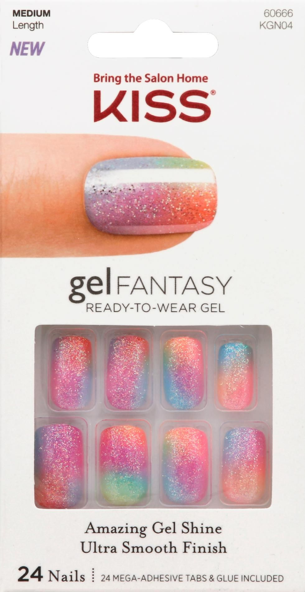 Kiss Gel Fantasy Nails Charmed Life 24 Ct Multi Color Kiss Gel Fantasy Nails Fake Gel Nails Fantasy Nails