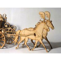 Carroza Mdf Fibrofacil Premium Grabado Perdonalizado 330 00 Lion Sculpture Art Statue