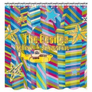 Beatles Yellow Submarine Fabric Shower Curtain With Images
