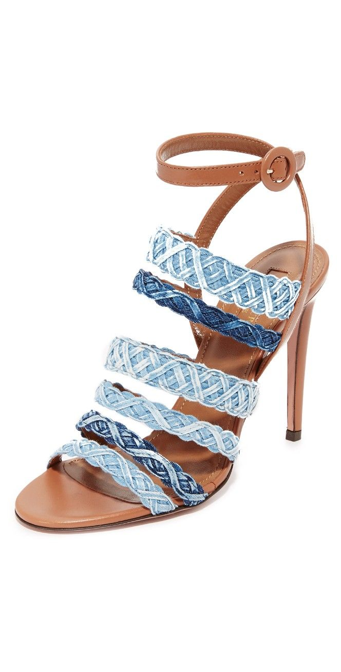 Aquazzura 2017 Tyra Denim Sandals outlet store online Manchester cheap price sale new styles websites xSFujIF447