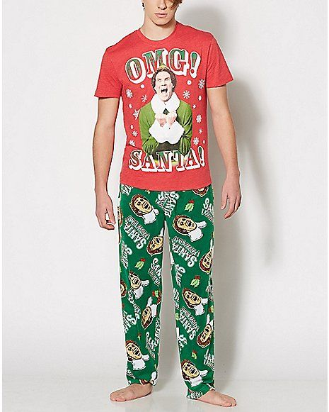 4811c5eeb Santa Buddy the Elf Pajama Set - Spencer s