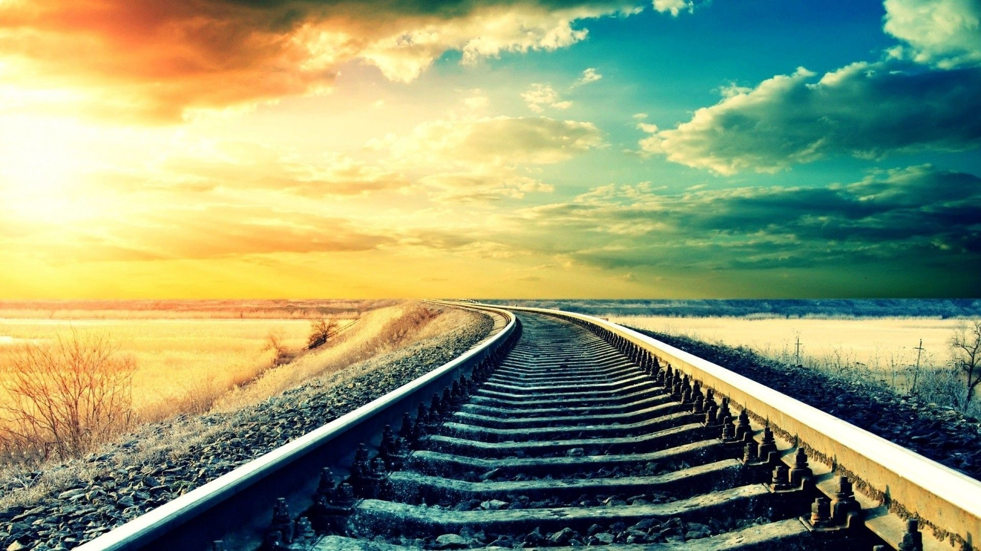 Photography Wallpapers 1080p Hd Wallpapers Desktop Hd Images Railroad Tracks Train Tracks Pictures