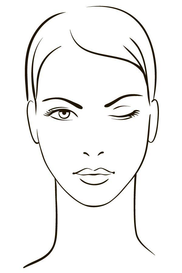 rostro dibujo maquillaje - Buscar con Google | Maquillaje ...