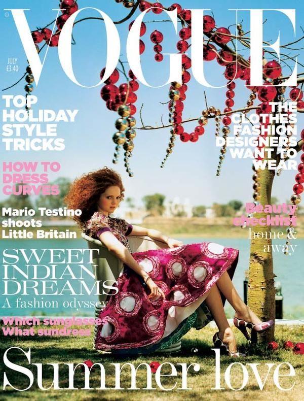 Vogue UK July 2005 - Lily Cole