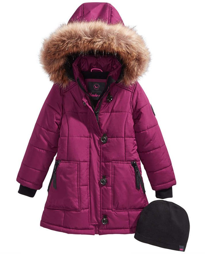 8846336a4 Hawke   Co Hooded Parka with Faux-Fur Trim   Hat