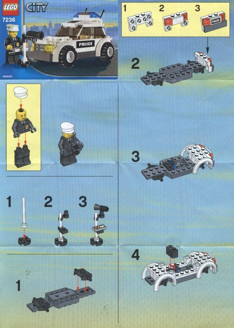 Old Lego Instructions Letsbuilditagain Com Lego Instructions Lego Lego Police