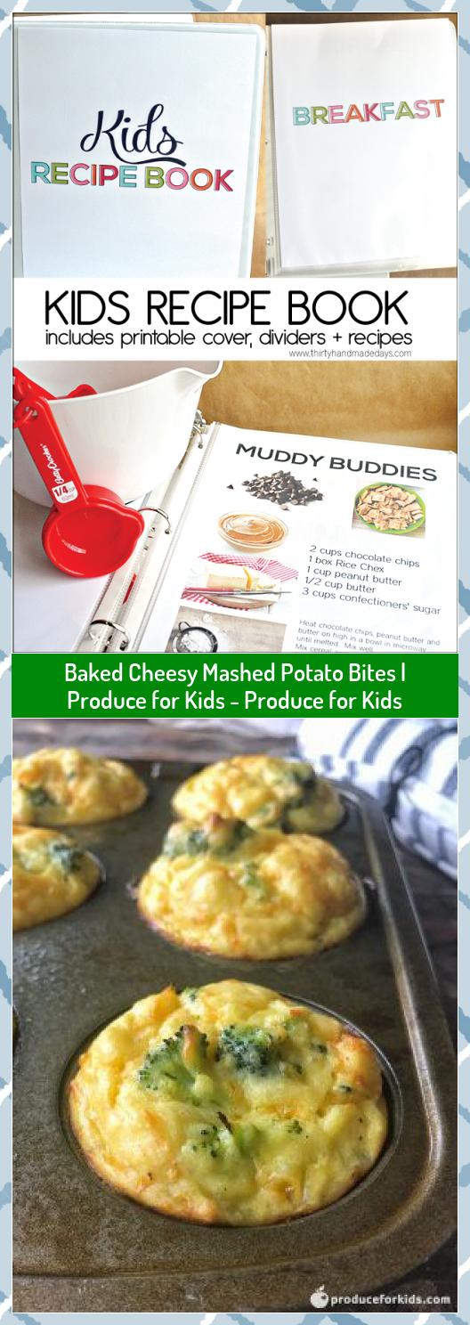 Baked Cheesy Mashed Potato Bites  Produce for Kids  Produce for Kids