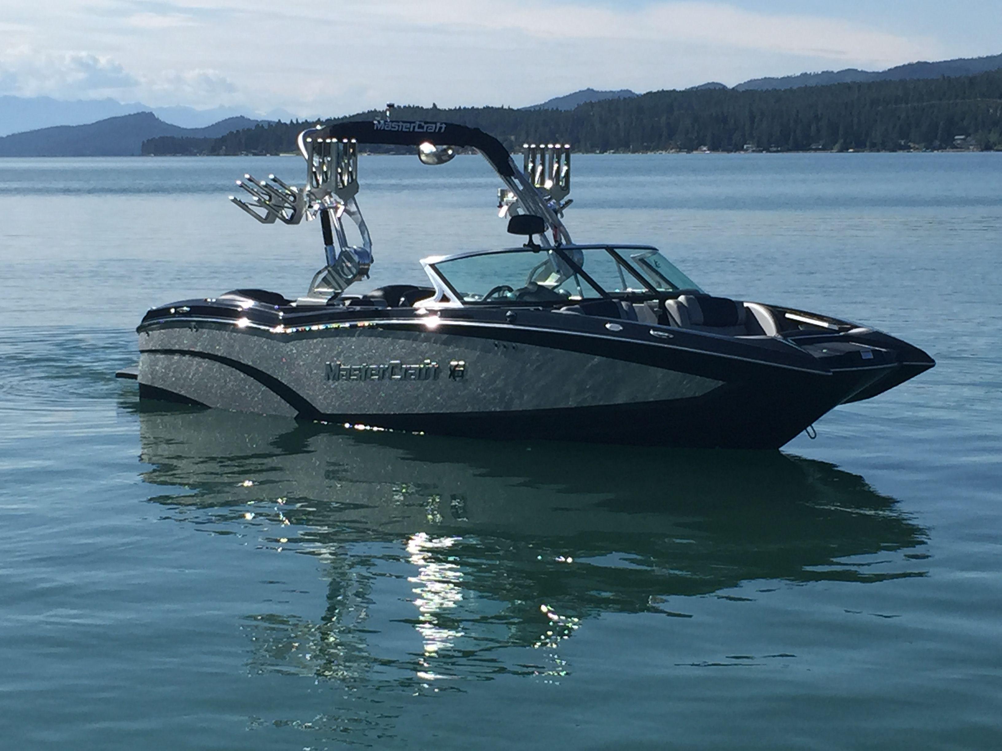 2015 Mastercraft X 23 Midnight Black Silver Flake Flathead Lake Mt Wakeboard Boats Mastercraft Boat Boat