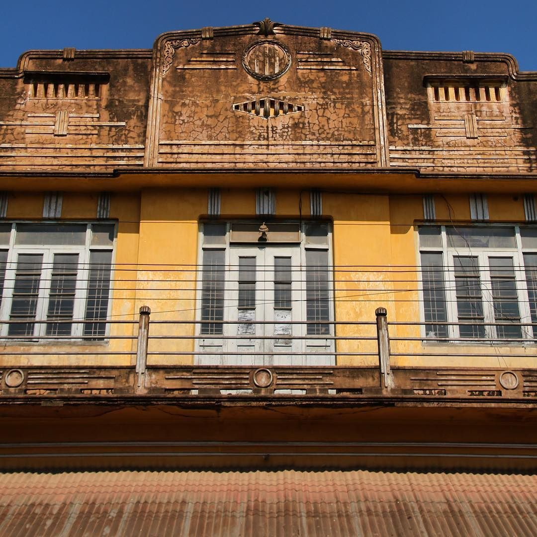 Admiring colonial-era architecture in Pyin Oo Lwin the former British hill station near Mandalay. #Burma #Myanmar #Maymyo #Mandalay #PyinOoLwin #hillstation #facade #rust #rusting #architecture #architecturelovers #architecturephotos #window #windowporn #door #filthyfacades #colonialarchitecture #travelgram #travel #travelling #travelphotos #artdeco #travelphotography #yellowwall #GAdventures @gadventures by sarah_nicho
