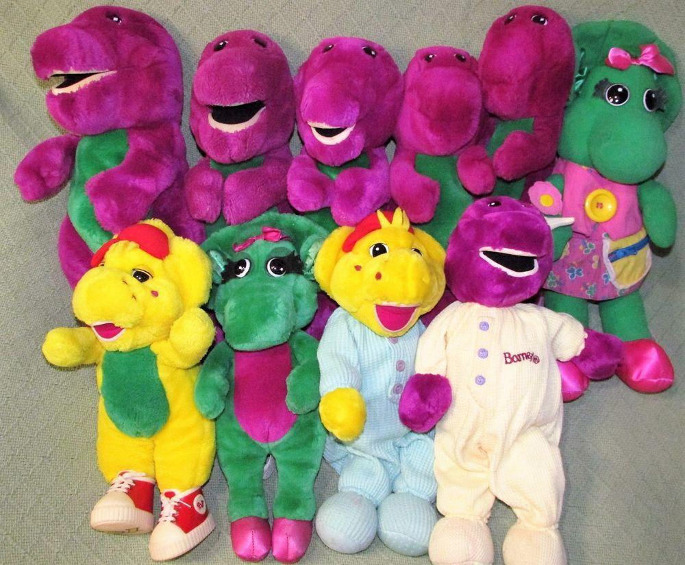 vintage barney friends plush lot of 10 baby bop bj lyon s 1990 s