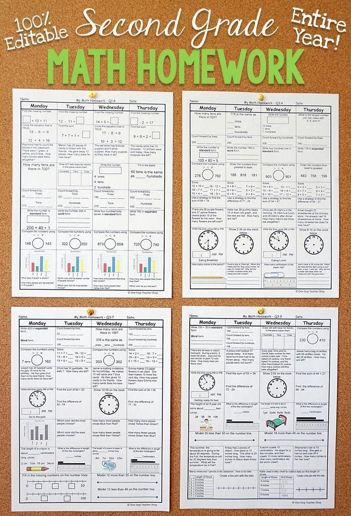 2nd Grade Math Spiral Review | 2nd Grade Math Homework 2nd Grade ...