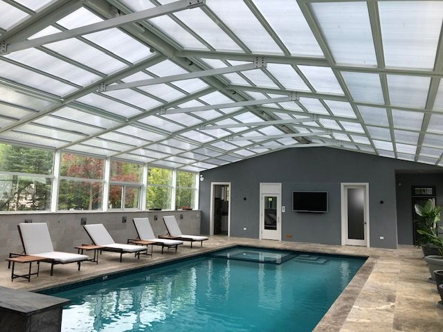 Residential Retractable Pool Enclosure South Brunswick Nj America S Leading Custom Manufacturer Of Retractable Enclosure And Roof Systems Swimming Pool Enclosures Patio Enclosures Pool Enclosures