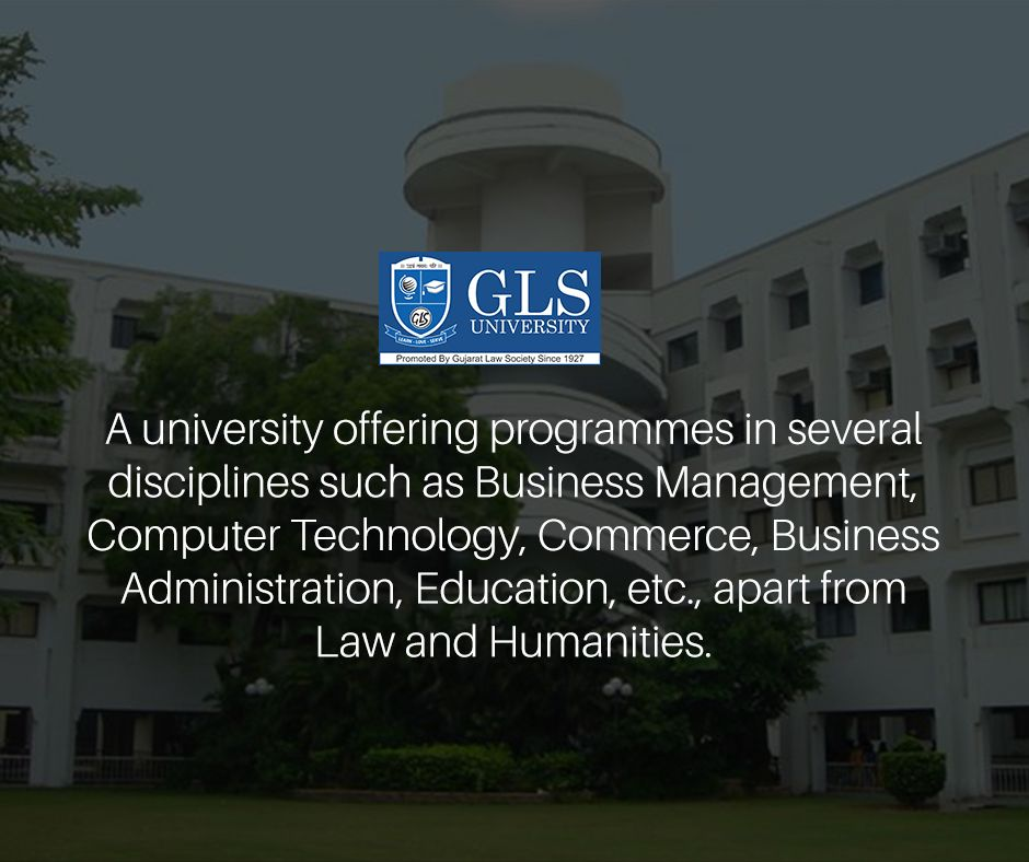 A university offering programmes in several disciplines such as Business Management, Computer Technology, Commerce, Business Administration, Education, etc., apart from Law and Humanities. #GLSUniversity