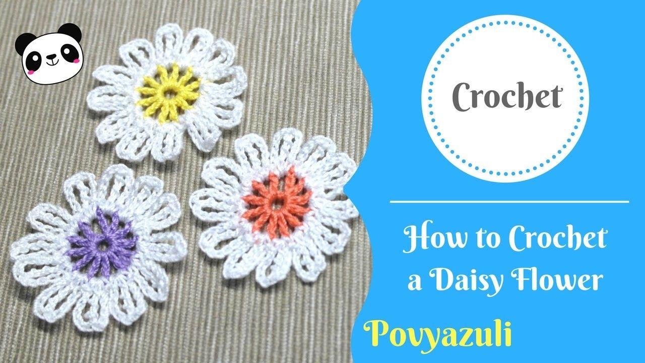 How to crochet a daisy flower crochet flower and craft how to crochet a daisy flower izmirmasajfo