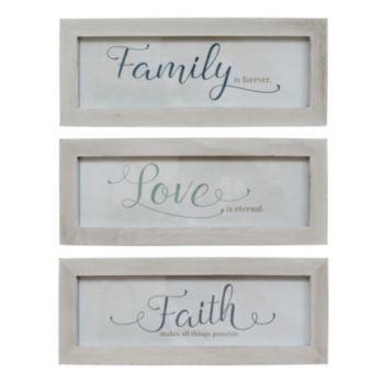 Stratton Home Decor Family Love And Faith Framed Wall Art 3 Piece Set Stratton Home Decor Framed Wall Art Home Decor Wall Art