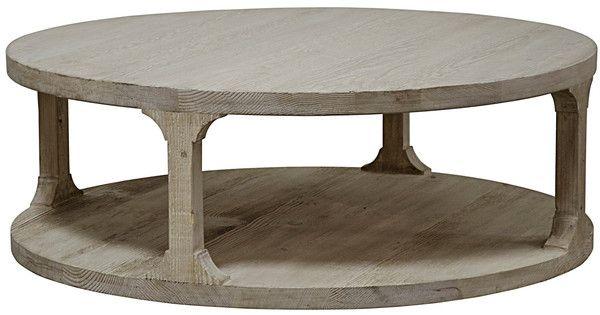 Gismo Reclaimed Wood Cocktail Table 48 Diam X 17 High Reclaimed