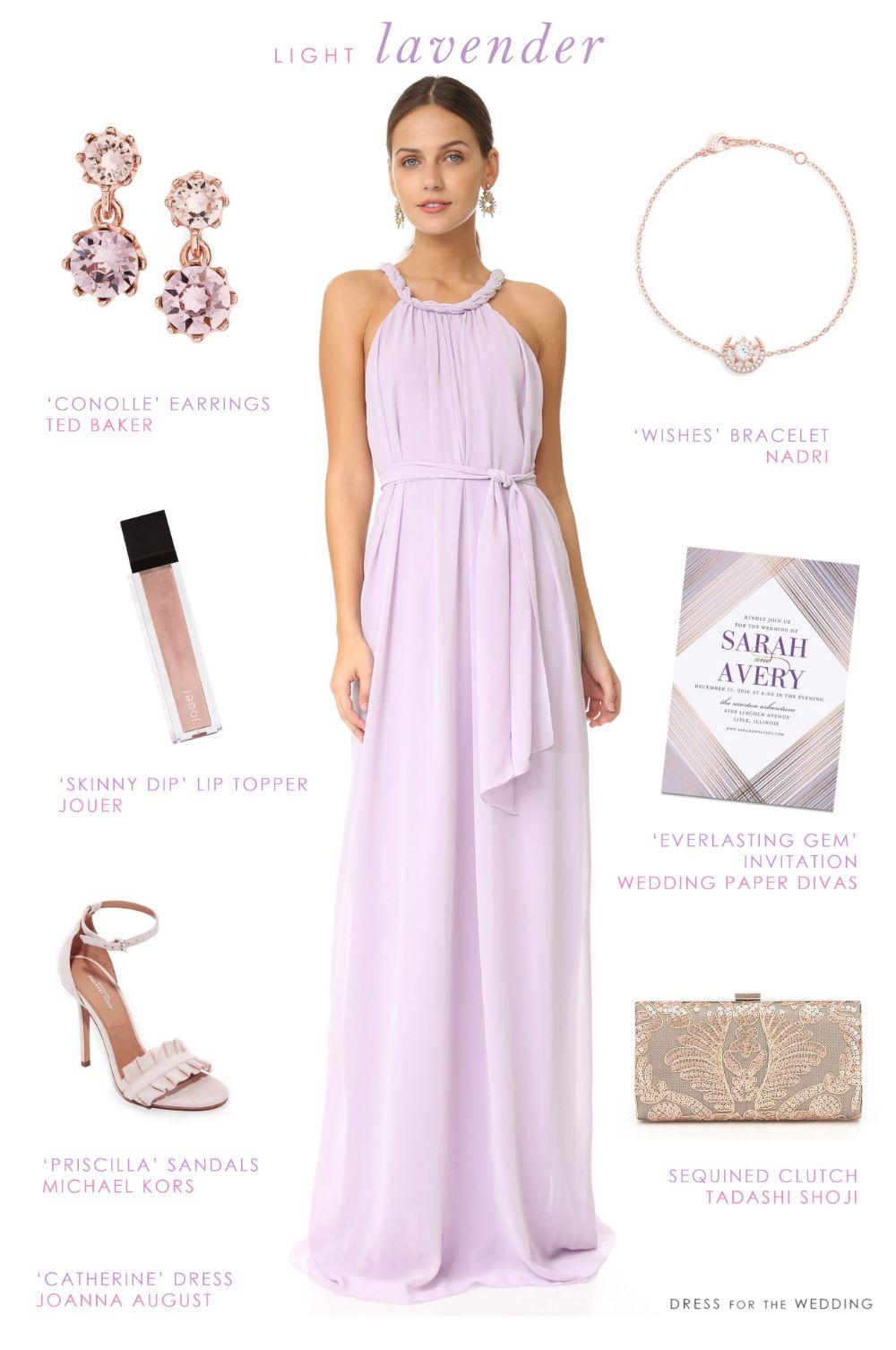A Lovely Lavender Maxi Dress Bridesmaid Purple Bridesmaid