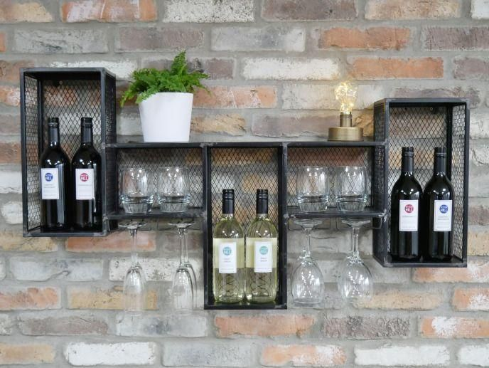 #cabinet  #drinks  #industrial  #metal  #shelf  #storage  #unit  #vinterior  #wall  #wine #Industrial #Wine Metal Industrial Wine Wall Cabinet Drinks Storage Unit Or Shelf | Vinterior