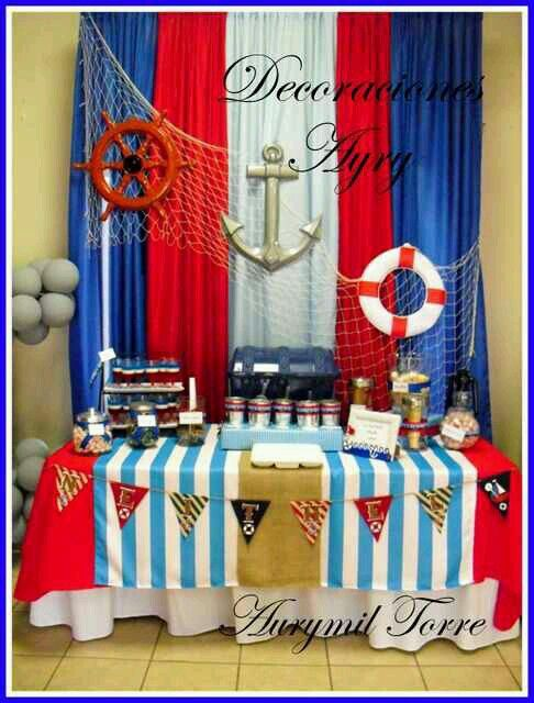 Ideas decoracion cumplea os del rey pinterest baby for Decoracion nautica infantil
