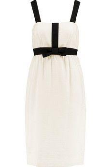 Valentino Grosgrain-trimmed jacquard dress | THE OUTNET