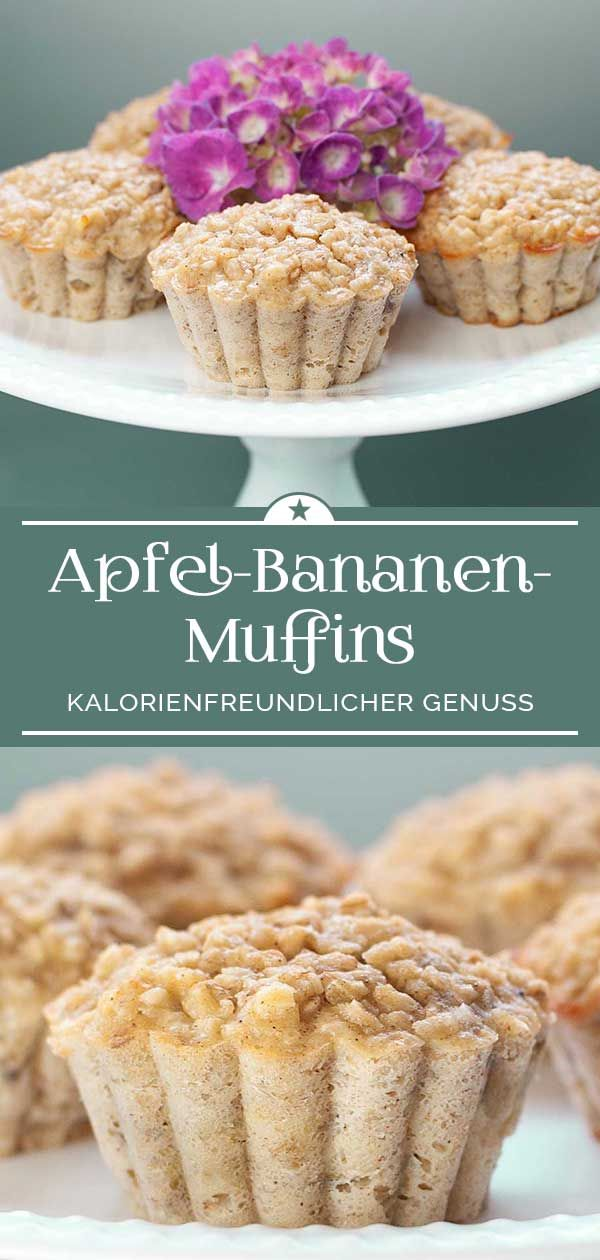 Apfel-Bananen-Muffins - Eine kleine Prise Anna