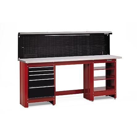 Craftsman 5 Drawer Workbench Module Red Black 2 Drawers Workbench Black And Red