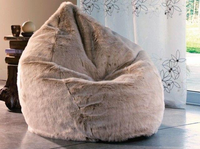 pouf fourrure