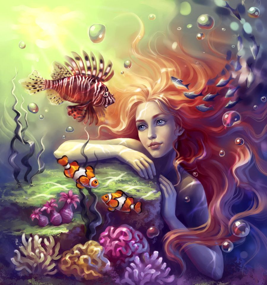 картинки с русалками феями ведьмами