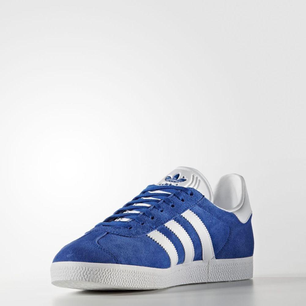 new product 9f462 c4b3e Adidas Gazelle Collegiate Royal  S76227  Men Original White Gold Metallic  Blue adidas BasketballShoes