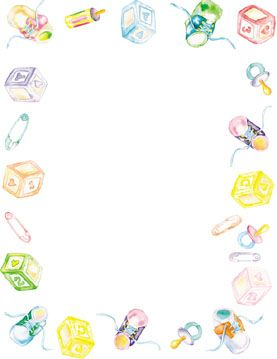 Babyshower Borders : babyshower, borders, Printable, Shower, Borders, Stationery,, Paper, Printables,, Stuff