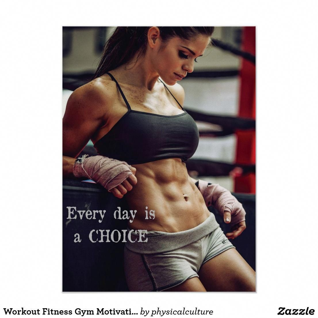 Workout Motivational Poster | Zazzle.com