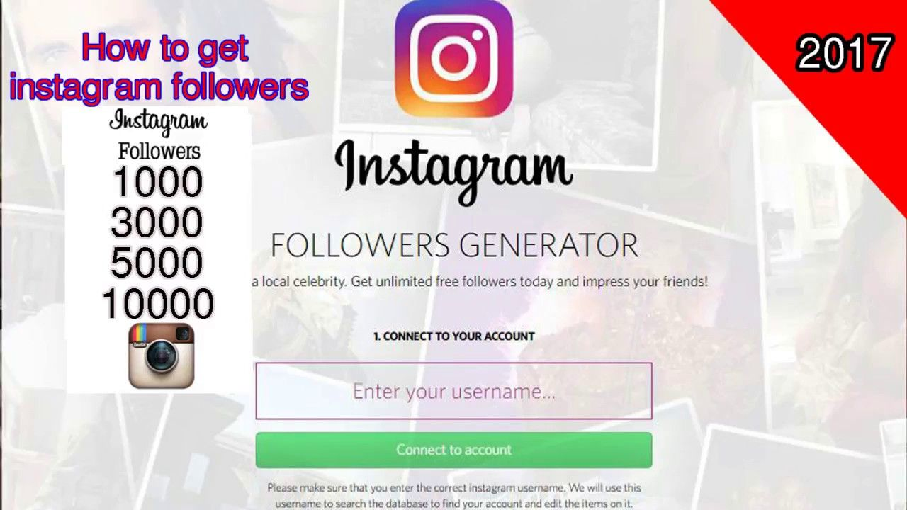 Instagram Free FOLLOWERS Hack - Free Free Followers (live