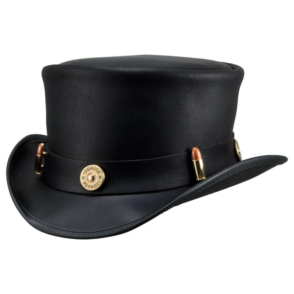 Marlow Top Hat Bullet Band In 2021 Leather Top Hat American Hat Makers Leather Top