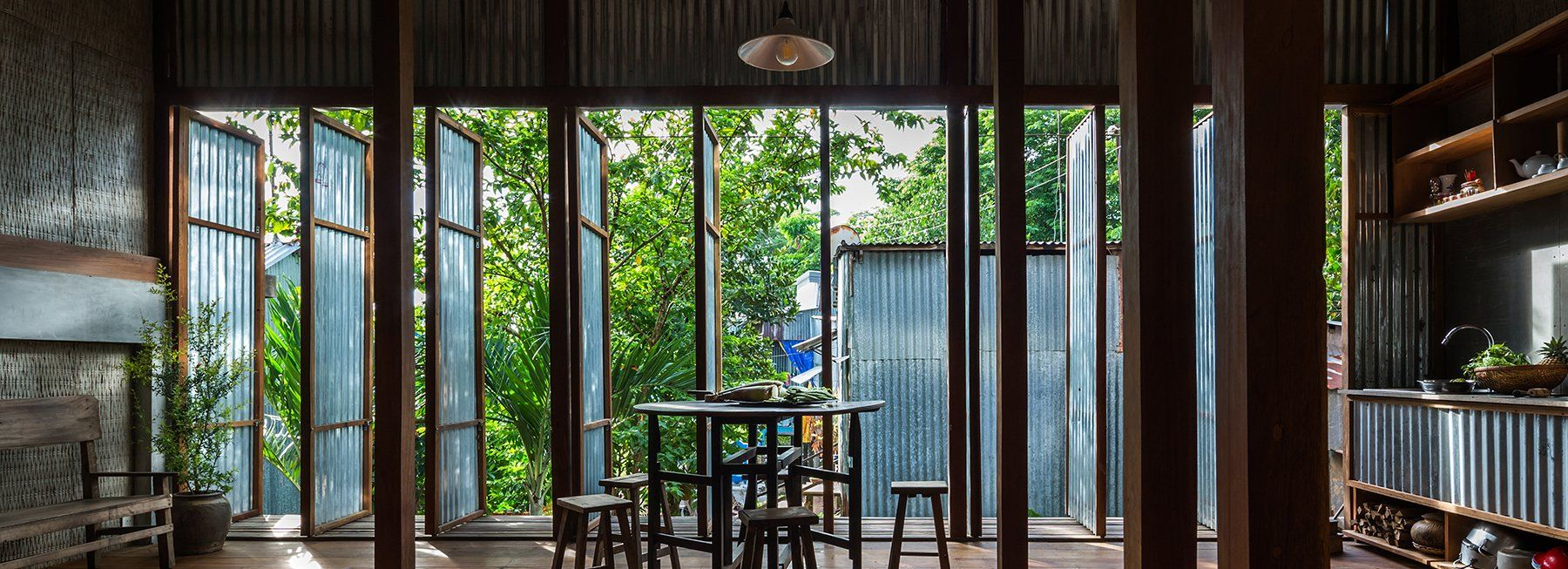 Nishizawaarchitects Builds House Using Corrugated Metal Panels Eco House Design Chau Doc Movable Walls