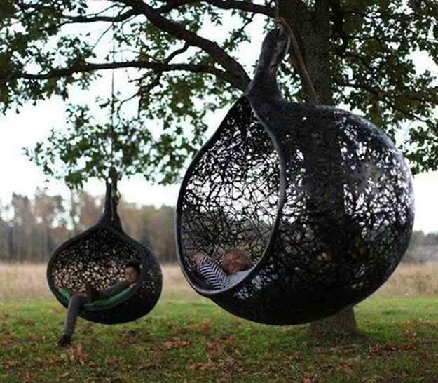 In The Manu Nest Hanging Chair 44 Amazing Places You Wish You