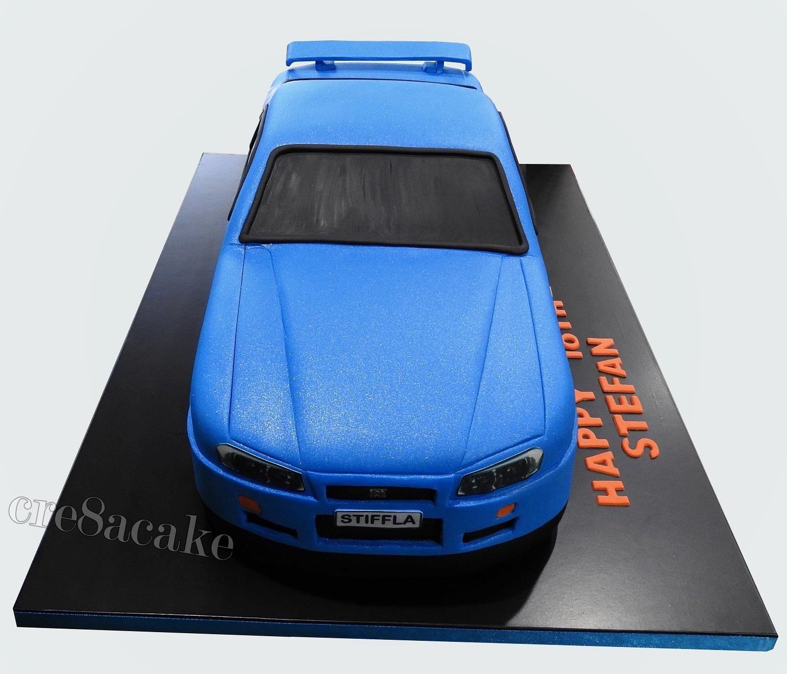 Nissan Skyline GTR R 34 Birthday Cake