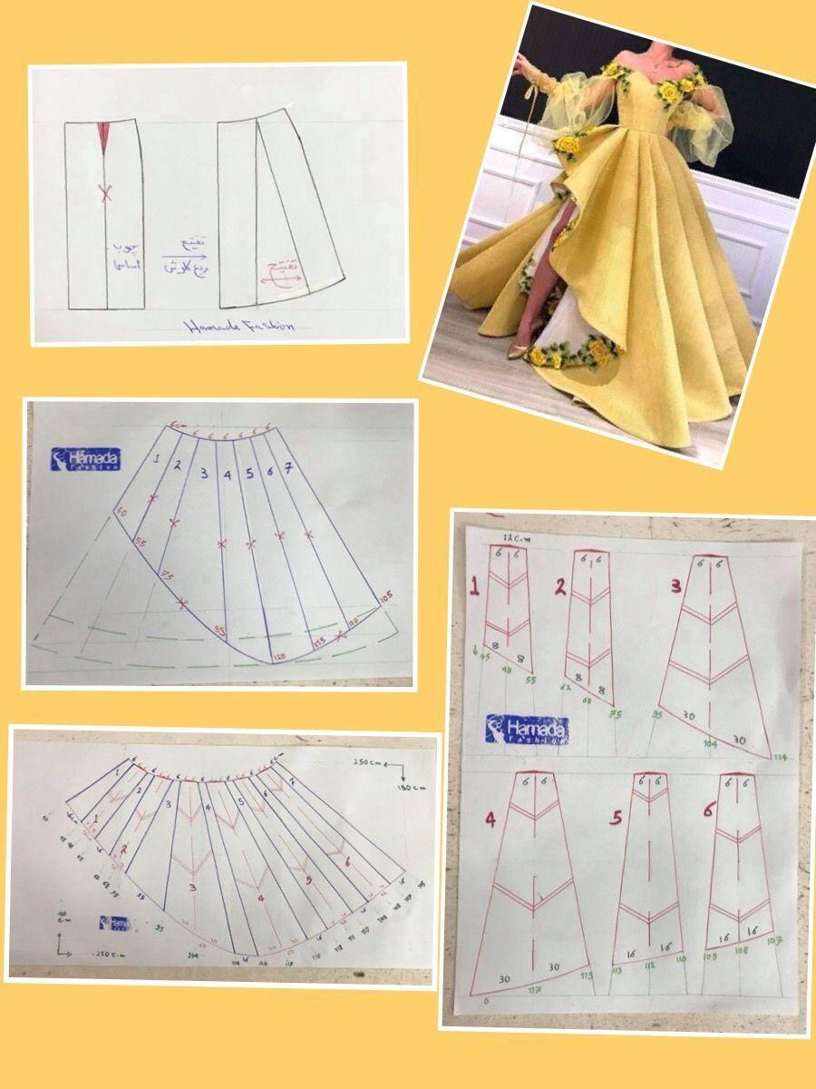 Best 10 باترون خياطة ,باترون قنادر الدار , باترون قنادر عراس وباترون ملابس تقليدية – SkillOfKing.Com #clothpatterns