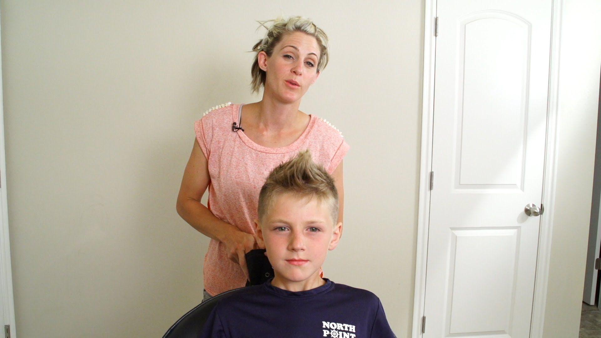 How to cut a boys mohawk hair with april gavinus haircut in