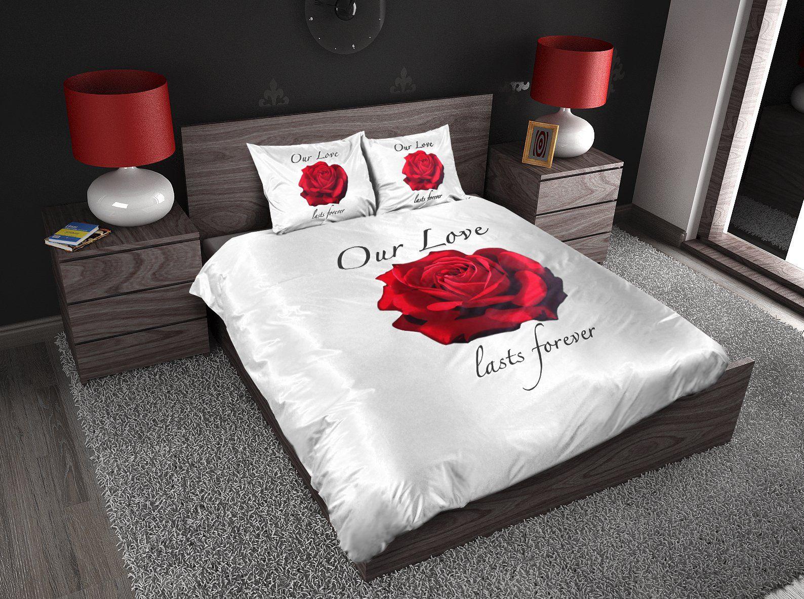 Bed Met Rozen.Sleeptime Our Love Dekbedovertrek Kopen Romantisch Dekbed Met Rozen