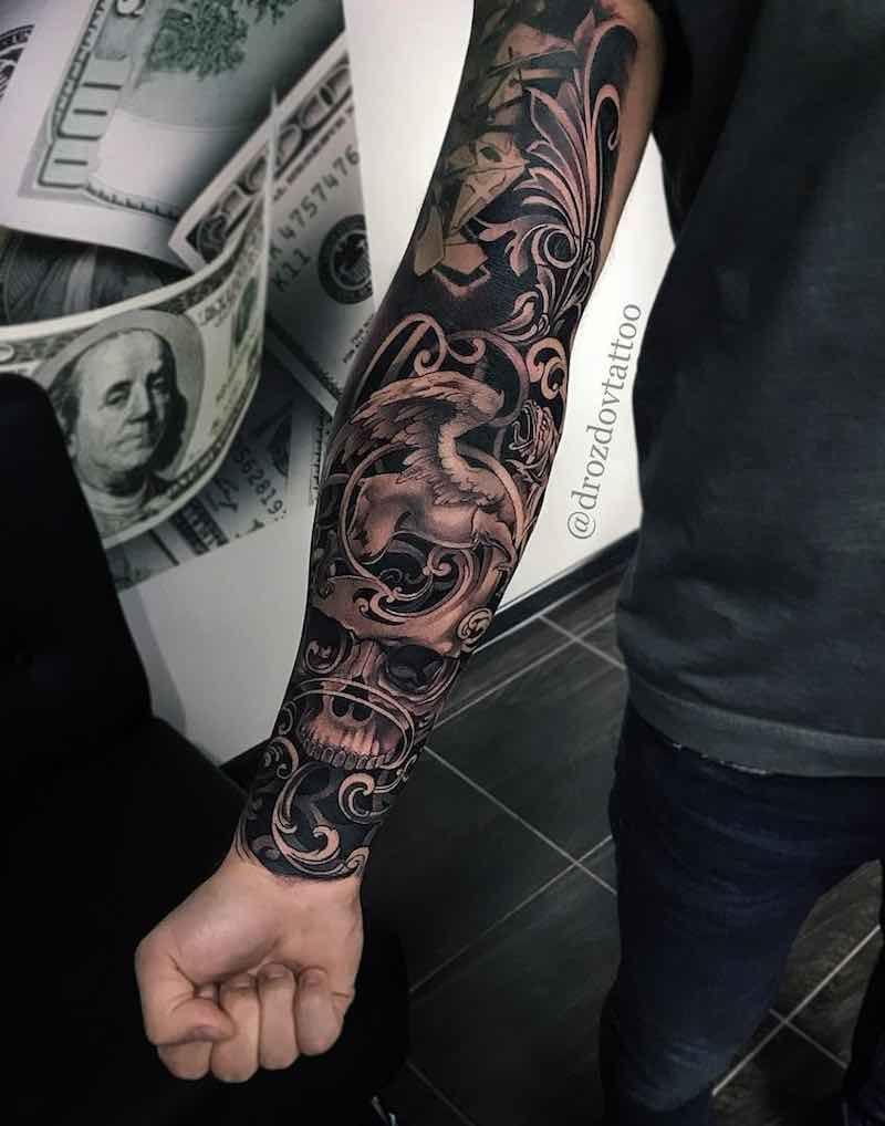 Black Grey Sleeve Tattoo Ideas: Sleeve Tattoos, Best Sleeve Tattoos