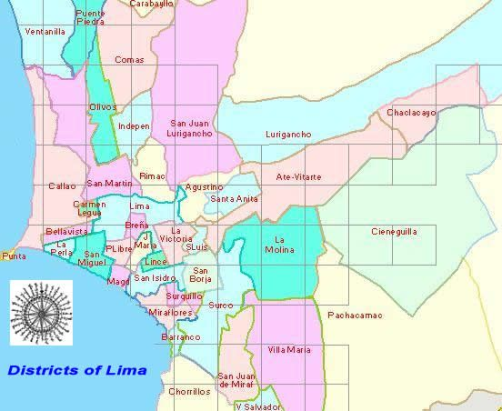 Map Of Lima Peru Districts Image result for map of lima districts | Z 9/17: PERU | Peru map