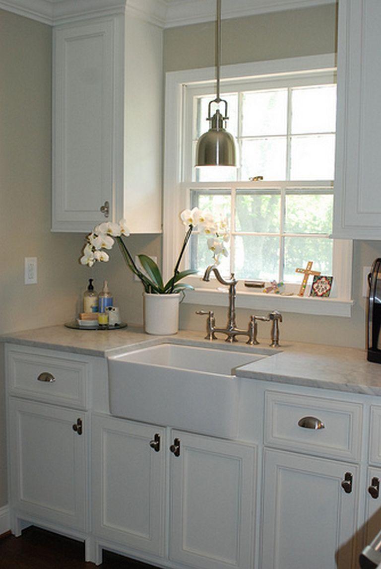 Open Shelves Above Kitchen Sink