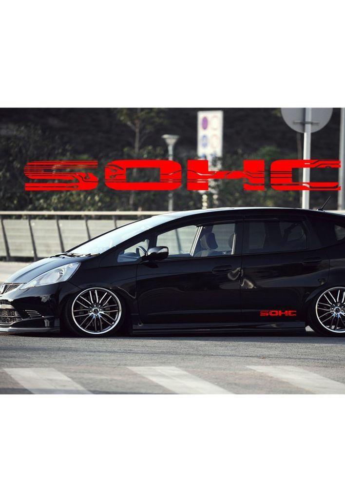 Honda Fit SOHC Car Decals 1797 X 198 X2