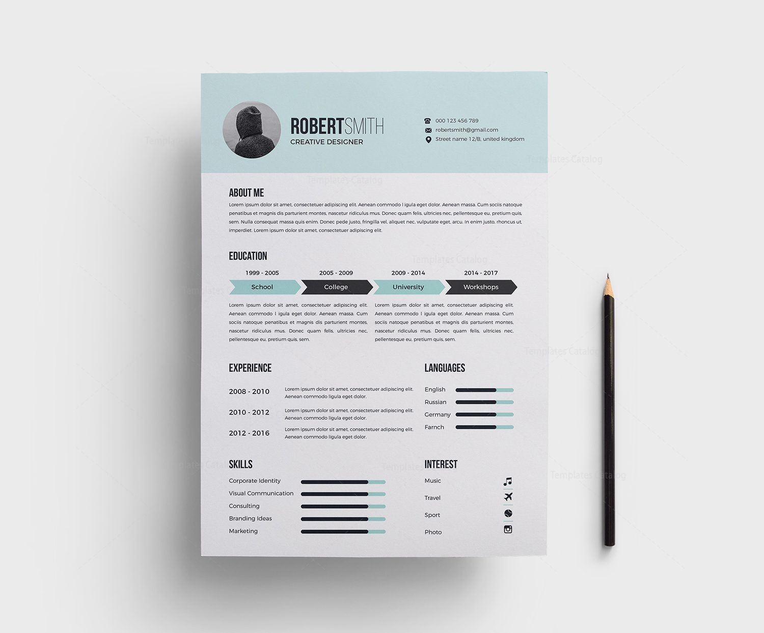 Classy Light Blue Resume Template - Resume design template, Resume templates, Resume template, Resume design creative, Templates, Resume cv - Classy Light Blue Resume Template  The perfect way to make the best impression  Strong typographic structure and very easy to use and customize    The resume have a very org