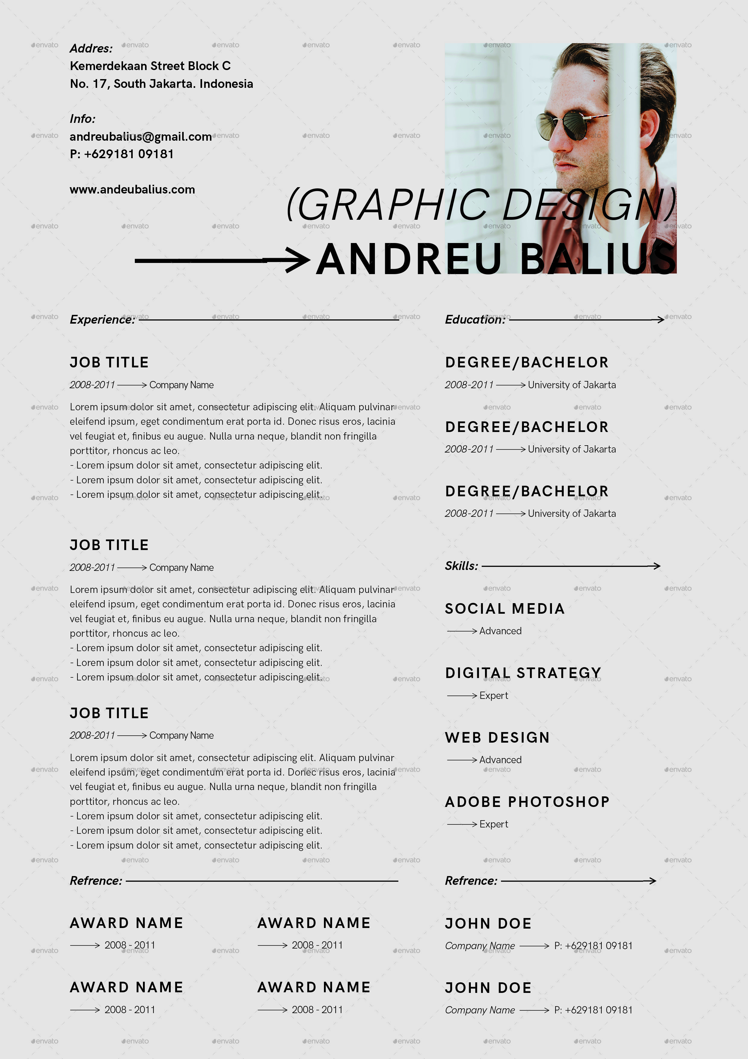 Minimalist Cv Resume Templates Cv Resume Template Resume Design Template Best Resume Template
