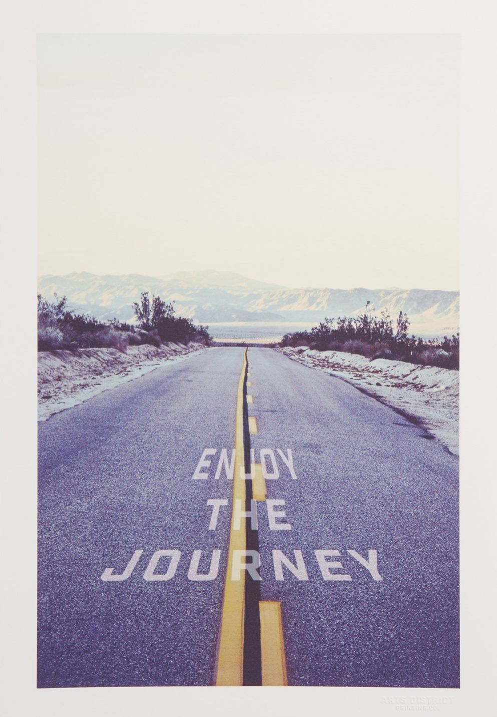 Arts District Printing Co. 'Enjoy the Journey' Print (With